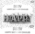 Happy Birthday Silver Pick Candles
