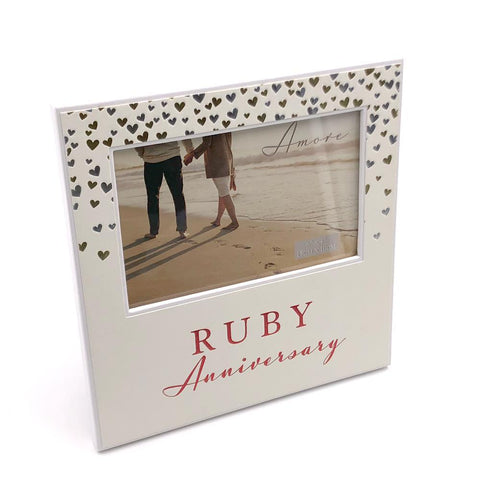 Amore 40th Ruby Anniversary Photo Frame