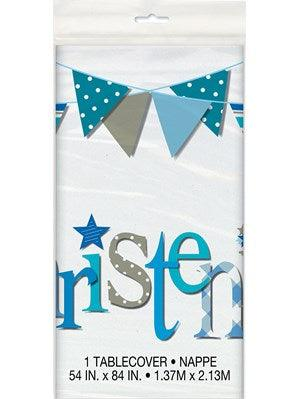Blue Christening Tablecover