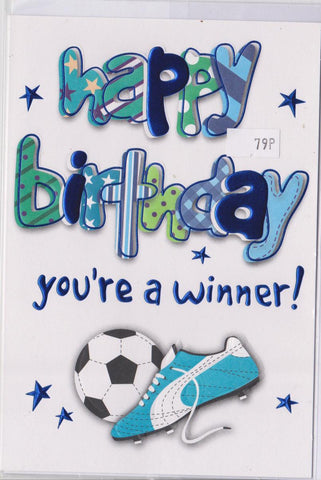 Happy Birthday You're a Winner Card