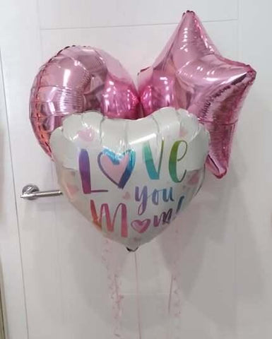 Mothers Day Love You Mum Balloon Bouquet