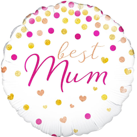 Best Mum Holographic Foil Balloon
