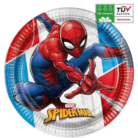 Spider Man Paper Party Plates 23cm