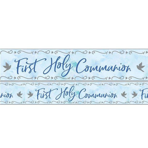 Blue First Communion Foil Banner 2.7m