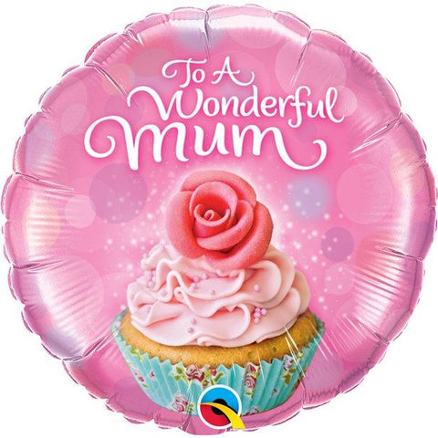 "To A Wonderful Mum Cupcake - 18"" Foil"