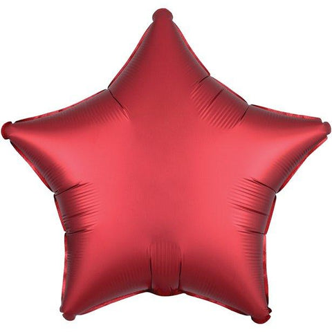 Red Satin Luxe Star Foil Balloon - 18""