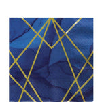 Navy & Gold Geode Napkins