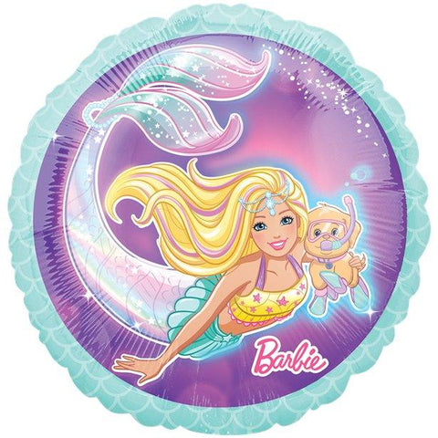 "Mermaid Barbie Balloon - 18"" Foil"