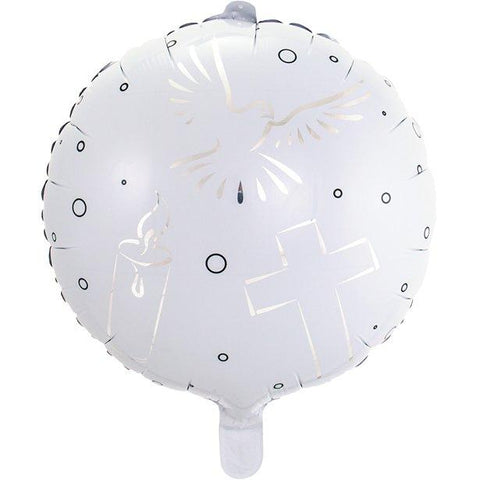 White Holy Communion Balloon - 18""