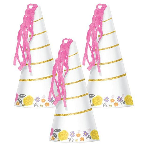 Magical Unicorn Party Horn Hats 8pk