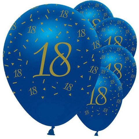 Navy & Gold Geode 18th Birthday Balloons