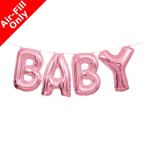 Pink Baby Foil Letter Balloon Garland