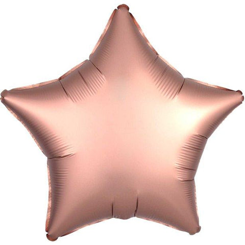 Rose Gold Satin Star Foil Balloon - 18""