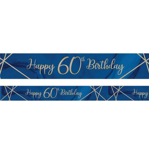 Navy & Gold Geode 60th Birthday Banner