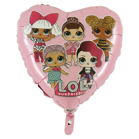 "LOL Surprise 18"" Pink Heart Foil Balloon"