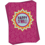 Greetings Car Small Happy Diwali Pink