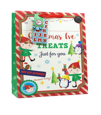 Elf Christmas Eve Treat Bags