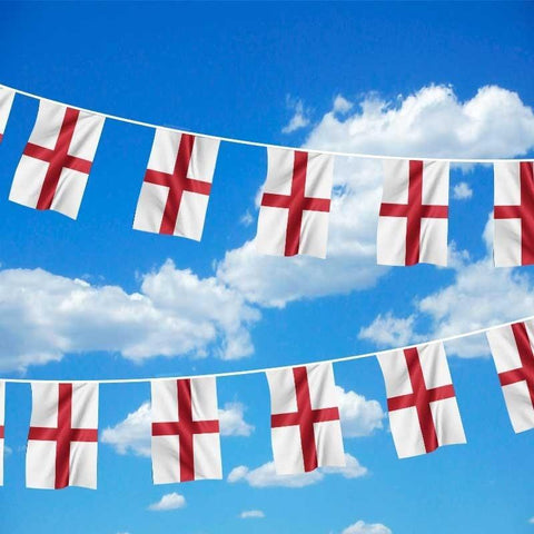 19ft England St Georges Day Polyester Bunting