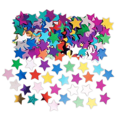 Multi-Coloured Star Confetti 14g