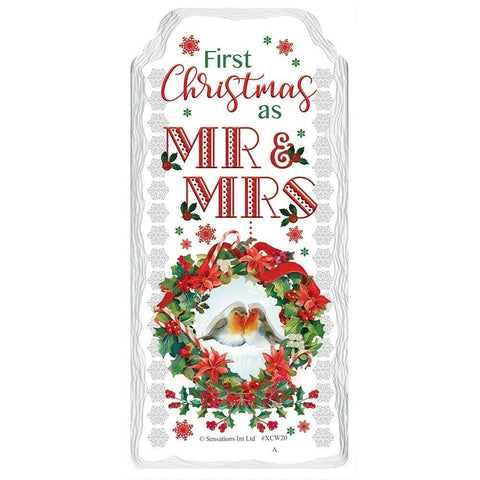 First Christmas as Mr & Mrs Ceramic Plaque