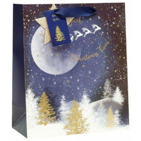 Christmas Gift Bag Starry Night Size Medium