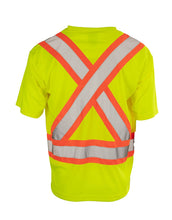 Load image into Gallery viewer, Hi Vis V-Neck Short Sleeve Safety Tee Shirt