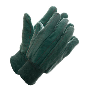 Green Flannel Knit Wrist Glove