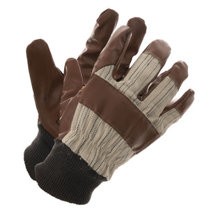 Lato-Hide Brown Knit Wrist Driver - Large