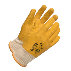 FC Yellow PVC/Cotton Knit Wrist Glove - Small