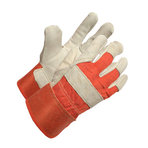 Ladies Cow Grain Work Glove with Rubberized Cuff