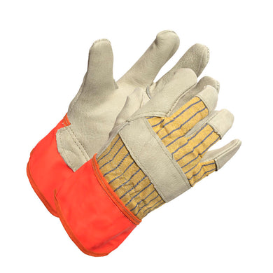 Women's Grain Cowhide Fluorescent Cuff Work Glove