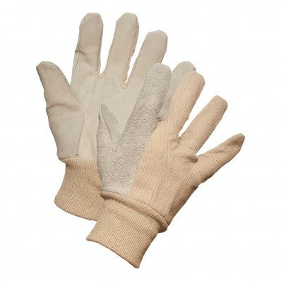 Split Leather Palm Knitwrist Gloves