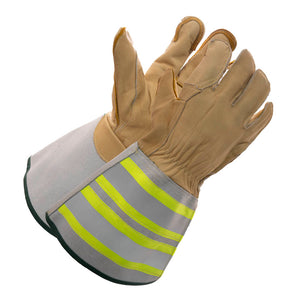 "Deluxe Linesman Glove with 6"" Reflective Cuff"