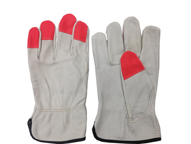 Drivers Glove, Inset Thumb, Hi Vis Tips, Size Large
