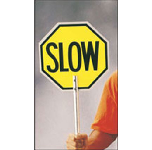 Stop and Slow Paddle Sign - 022-PTA002PRF