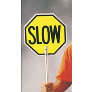 Stop and Slow Paddle Sign