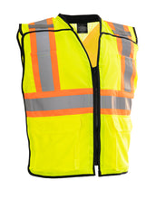 Load image into Gallery viewer, Porter Zip-Up Hi Vis Traffic Safety Vest (LEAD)