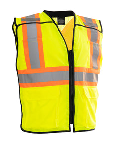 Porter Zip-Up Hi Vis Traffic Safety Vest (LEAD)