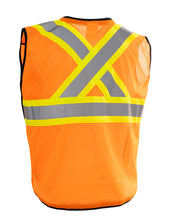 Load image into Gallery viewer, Zip-Up Hi Vis Traffic Safety Vest, 5 Point Tear-Away