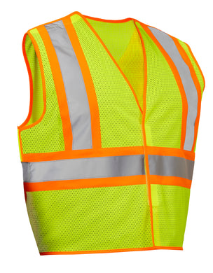 Econo, Mesh, 5 Point Tear-Away  Pack of 10 vests Per Case