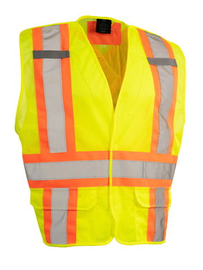 Tricot, Sized, 5-Point Tear-Away Traffic Vest