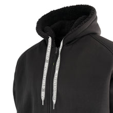 Load image into Gallery viewer, Sherpa Lined Hoodie with Reflective Stripe