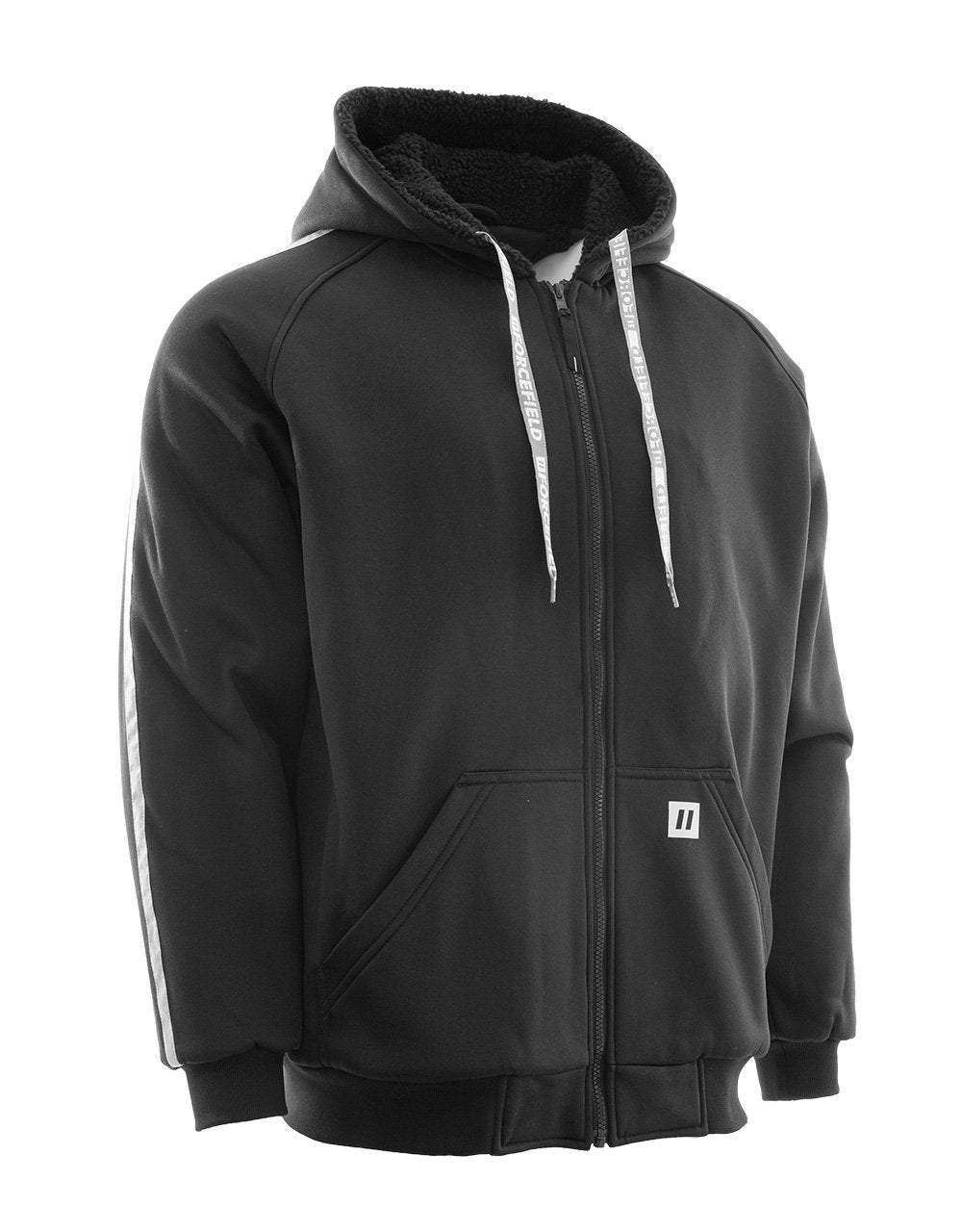 Sherpa Lined Hoodie with Reflective Stripe