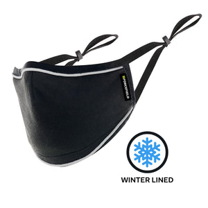 Deluxe Winter Lined Black Fabric Face Mask