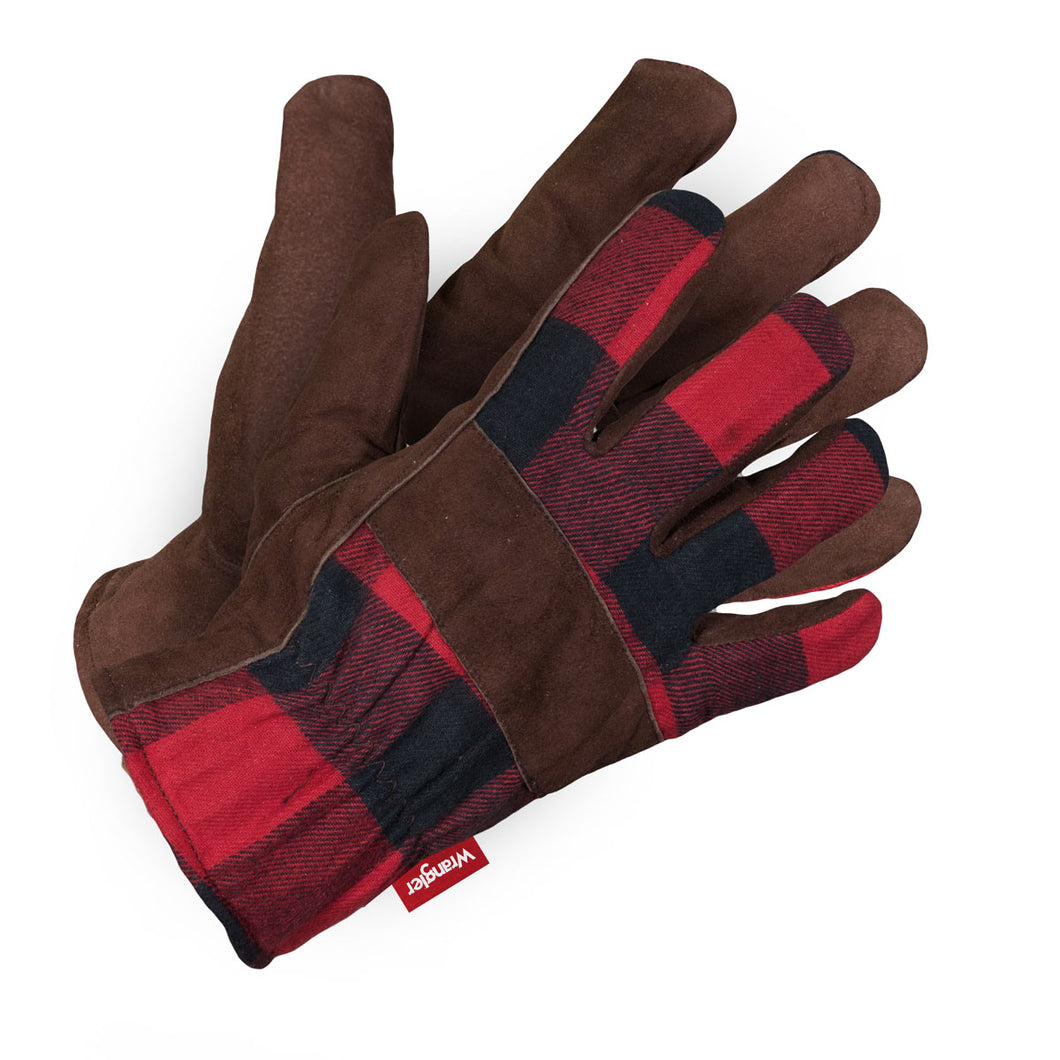 Men's Wrangler Split Leather Flannel Glove