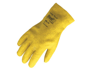 SHOWA Best Fuzzy Duck 962 Yellow Fully PVC Coated Gloves