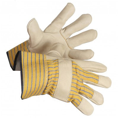 Grain Cowhide Leather Gloves With Safety Cuffs