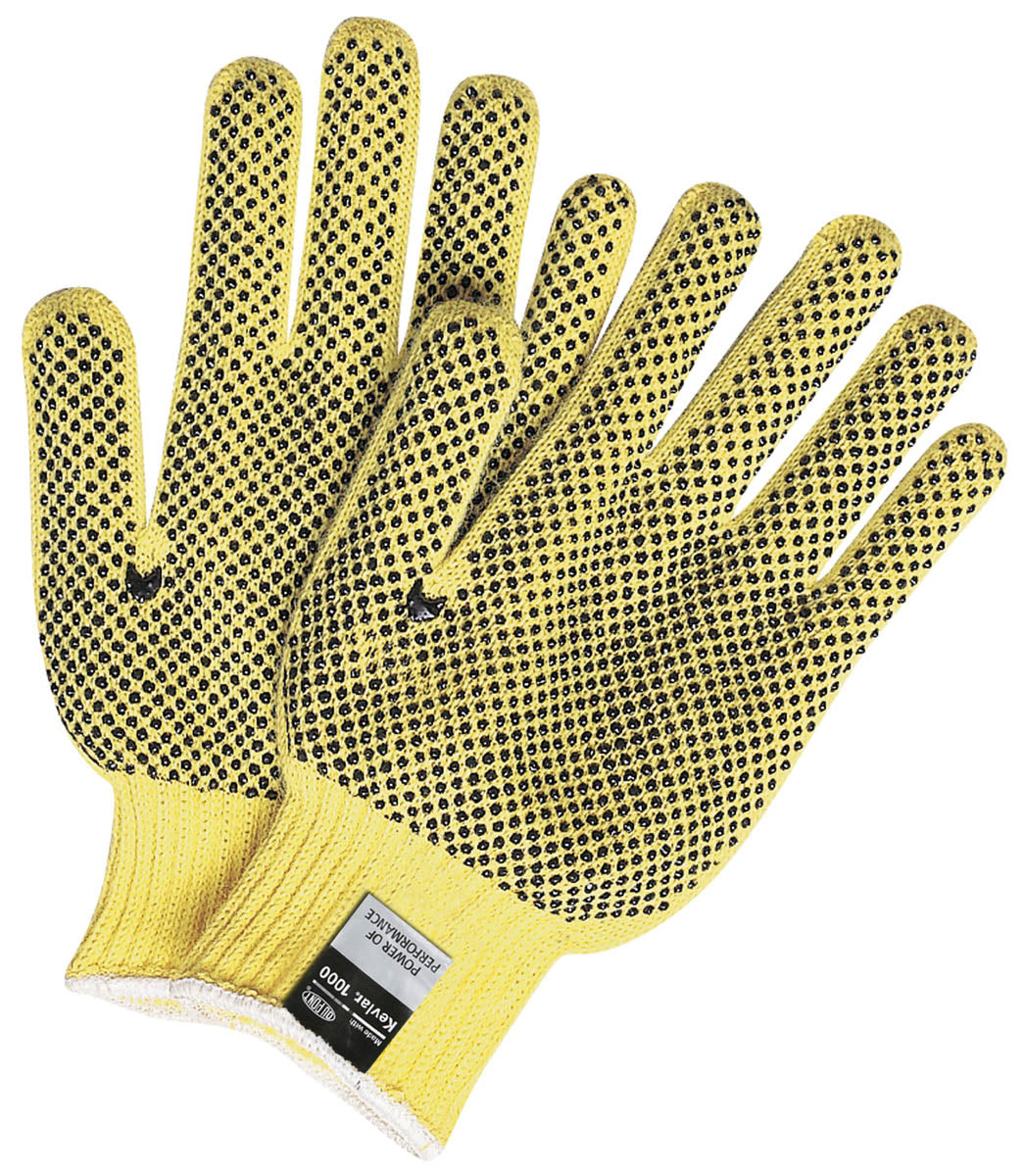 MCR Safety Cut Pro® 7 Gauge Kevlar® Regular Weight PVC Dots on 1 Sides