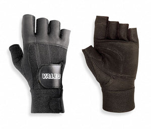 Anti-Vibration Gloves, Leather Palm Material, Half