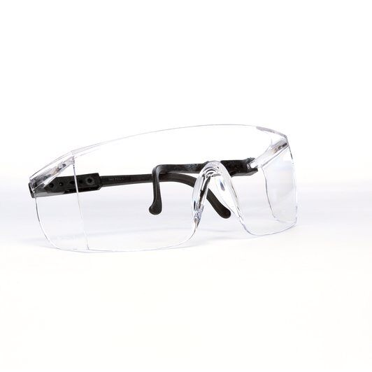 3M™ Seepro Plus™ Fighter Protective Eyewear, Clear Lens, Black Temple